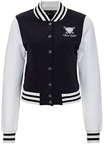 Queen Kerosin Damen College Jacke Mit Frottier-Stickerei