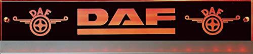 Schilderfeuerwehr Leuchtschild mit DAF-Logo, 30x6 cm ✓ Ideale Geschenkidee ✓ Lasergraviert | Edles LED-Schild als Truck-Accessoire | Beleuchtetes Scania Logo-Schild für den 12/24Volt-Anschluss |