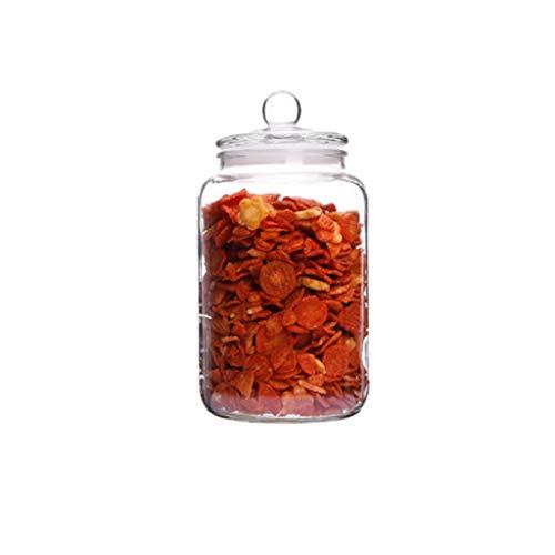 ZNZN Botes Tarro de Cocina Tapa hermética con Anillo de Sellado de Silicona Recipiente for azúcar, Sal, té, Especias, Hierbas, condimentos Tarro de Almacenamiento (Color : 3L)