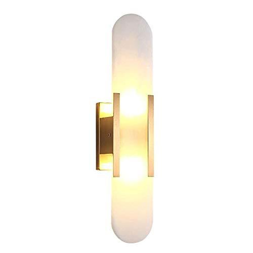 Lámpara de pared LED de cobre, lámpara de pared de mármol, lámpara de noche para dormitorio, iluminación de pasillo de estudio, accesorio de pared de fondo de TV, lámpara de pared de lujo con luz crea