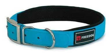 Freedog Collar Perro Ergo PVC con Acolchado Neopreno Talla 40 (Azul)