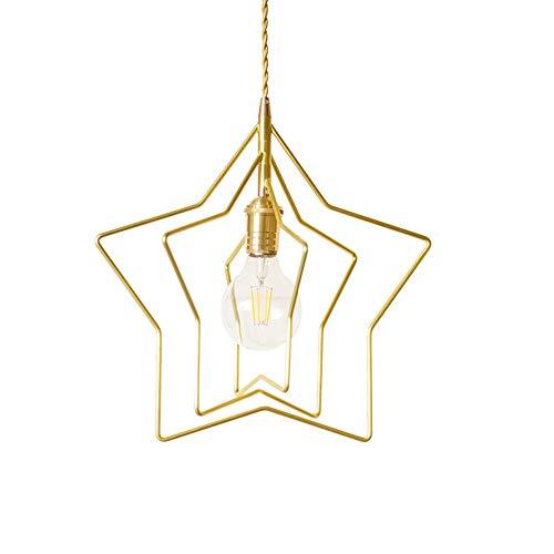 Moderne Suspension Lumière pendante Or 3 anneaux Étoile Lampe suspendue Rotatif Fer Abat jour pour Chambre d'enfants Salle à manger Îlot de cuisine Bar Loft Foyer Couloir Balcon Lustre Plafonnier