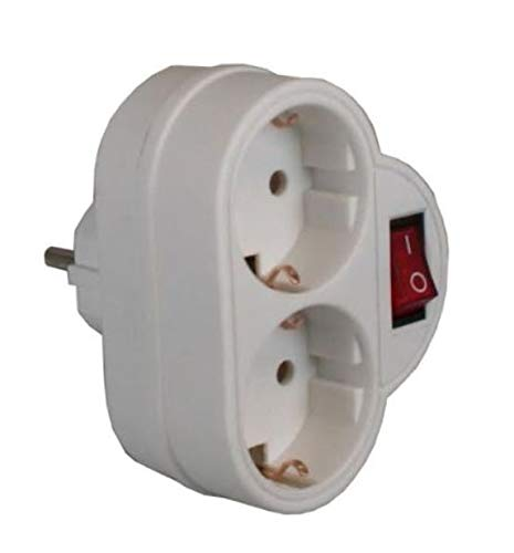 Adapter 2 Steckdosen + Schalter