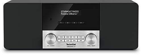 TechniSat CABLESTAR 400 - Stereoradio für unverschlüsselte Digitale Radioprogramme via Kabel (DVB-C Radio, AUXin, IEC in, Kopfhöreranschluss, Uhr, Wecker, Stereolautsprecher 20 Watt) schwarz