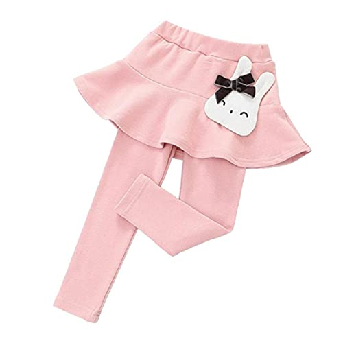 Baby Meisjes Leggings Kleine Meisjes Broek lange broek met rok joggingbroek Cotton Cartoon Roze 110cm