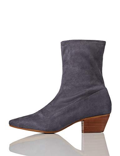 find. Stiefel Damen geschlossen mit Wildleder-Optik , Grau (Grey), 40 EU