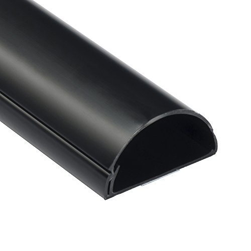 D-Line 1M6030B TV Halbrunder Kabelkanal   Kabelabdeckung   60x30 mm, 1 M Länge - Schwarz