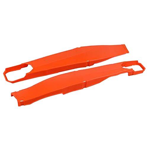 Almencla Protector de Brazo Oscilante Cubiertas de Protector de Cuerpo de Multifuncional para Protectores de basculante Polisport Husqvarna - Naranja