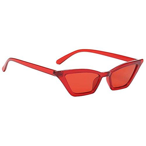 B Baosity Gafas de Sol para Mujer, Pequeño Espejo, Ojo de Gato, Al Aire Libre, Gafas UV400, Montura de Plástico - Rojo