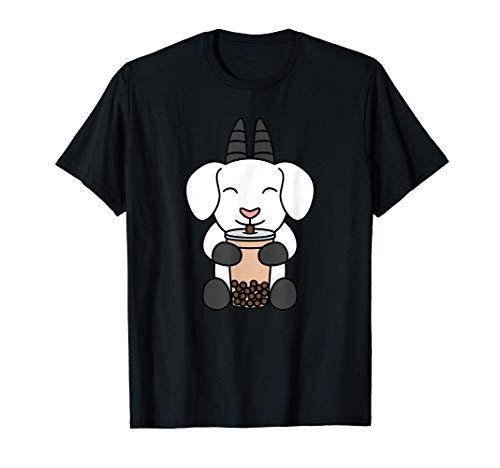 Boba Bubble Milk Tea Capra Animale Domestico Maglietta