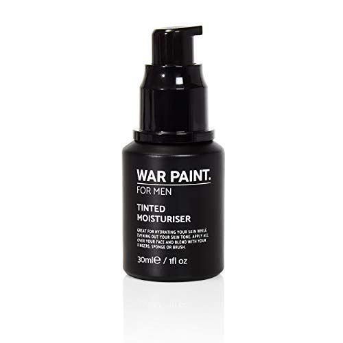 War Paint Men's Tinted Moisturiser - (Shade Tan) - 5 Shades available - Makeup Crafted For Men - Cruelty Free Vegan Products - Perfect Tone - Made in The UK