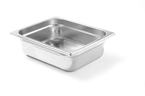 HENDI Gastronormbehälter, Temperaturbeständig von -40° bis 300°C, Heissluftöfen-Kühl- und Tiefkühlschränken-Chafing Dishes-Bain Marie, Stapelbar, 6,5L, GN 1/2, 325x265x(H)100mm, Edelstahl 18/10
