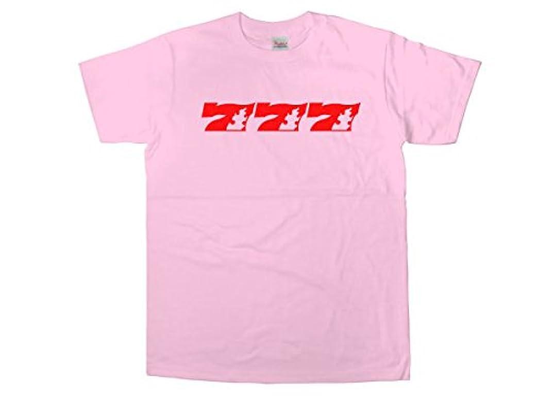 マイルストーン禁輸低い[幸服屋さん] パチスロ パチンコ必勝祈願Tシャツ 777-炎 半袖Tシャツ OS32