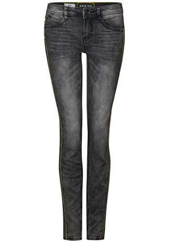 Preisvergleich Produktbild Street One Damen 372750 York Fit Slim Jeans,  Dark Grey Heavy Random Bleach,  W30 / L30 (Herstellergröße: 30)