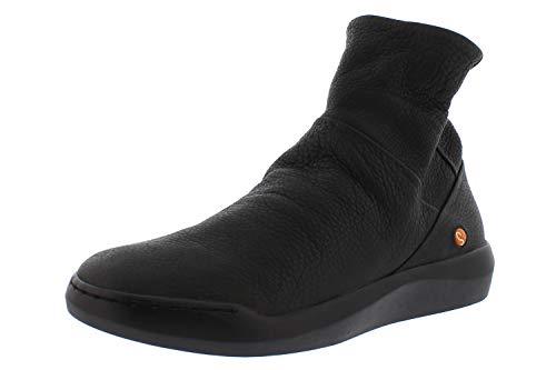 Softinos Damen Ankle Boots BLER550SOF, Frauen Klassische Stiefelette,lose Einlage, halbstiefel Bootie reißverschluss,Schwarz(Black),39 EU / 6 UK