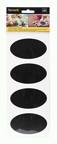 Beveiliging Ovaal Krijtbord Sticker Ovaal 1 x 10.5 x 32 cm Meerkleurig
