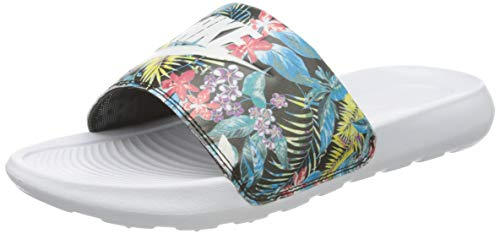 Nike W VICTORI One Slide Print, Zapatillas Deportivas Mujer, Black White White, 40.5 EU