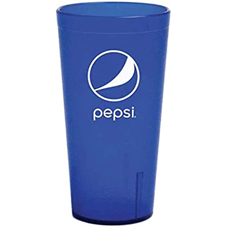 Plastic Pepsi Restaurant Style 24 Oz Ounce Drinking Cups Tumblers Carlisle 6