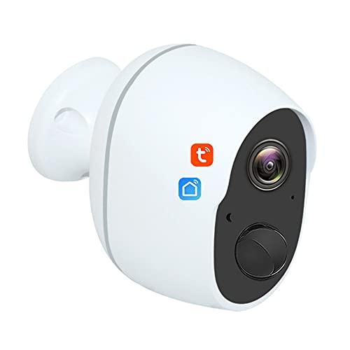 Tuya Smart Life Cámara WIFI inalámbrica de 3MP, cámara IP inteligente a prueba de agua, batería para exteriores, visión nocturna, seguridad, vigilancia CCTV,Camera+128g