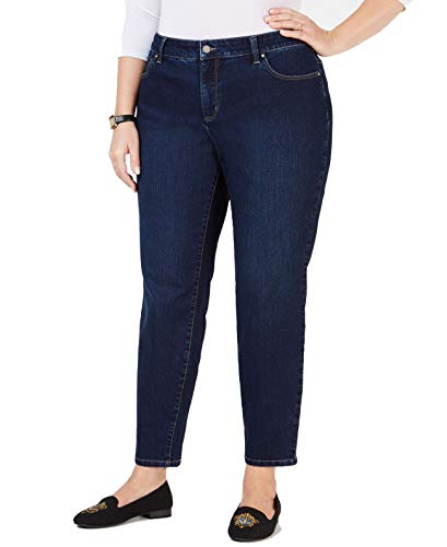 Charter Club Womens Plus Bristol Skinny Mid-Rise Ankle Jeans Blue 16W