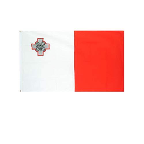 stormflag Malta Flagges (90cmx150cm) Polyester Pongee 90g mit Ösen mit Doppelnadel genäht.