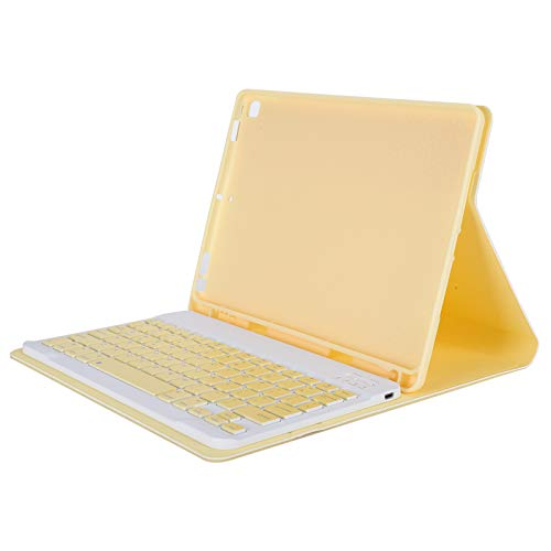 Zunate Tablet Keyboard Case, Bluetooth 3.0 Keyboard Cover Tablet PC Keyboard Case Smart Keyboard Case with Pen Slot,for iOS Tablet Air3/Pro 10.5/10.2(yellow)