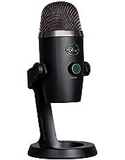 Blue Microphones Yeti Nano - Micrófono USB de condensador profesional con múltiples patrones de captación y monitoreo sin latencia para grabación y transmisión en PC y Mac, color Negro