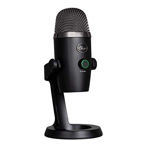 Blue Microphones Yeti Professional Multi-Pattern USB Mic for Recording and Streaming Microfono USB a Condensatore Professionale Nano con Pattern di Pickup, Streaming su PC e Mac, Nero