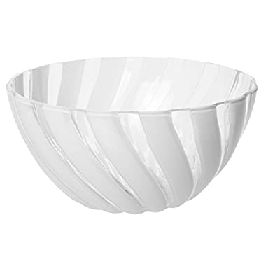 Safir Durable Plastic Salad Mixing Bowl, All Purpose Food Prep and Serving Bowl, Small, 1.6 Lt (White)