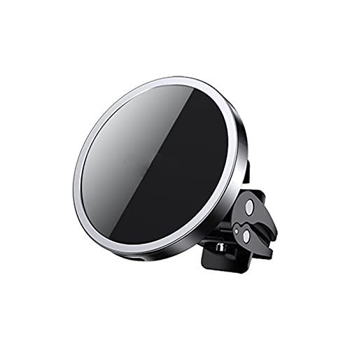 SONG Tenedor de teléfono del automóvil, Soporte de teléfono de Cargador de Coche inalámbrico magnético, para iPhone 12 Pro Máx, Tenedor de teléfono de Carga inalámbrico Universal