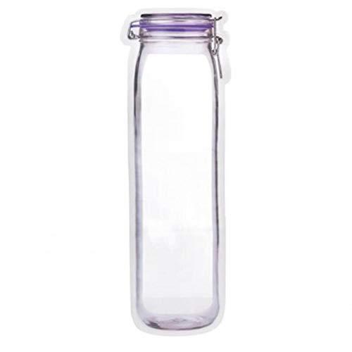 Ruluti 10pcs Mason Jar Botellas Bolsas, Almacenamiento De Alimentos Bolsa De Plástico Bolsas De Alimentos Saver Bolsas para Los Viajes De Camping Picnic
