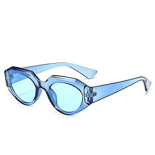 XDOUBAO Gafas de sol Caja pequeña marea gafas de sol hombres y mujeres moda coloreado gafas de sol casual Gafas de personalidad-Color foto_Cesta