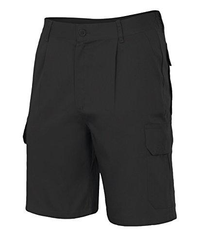 Velilla 344/C0/T42 - Bermuda multibolsillos (talla 42, moderno) color negro