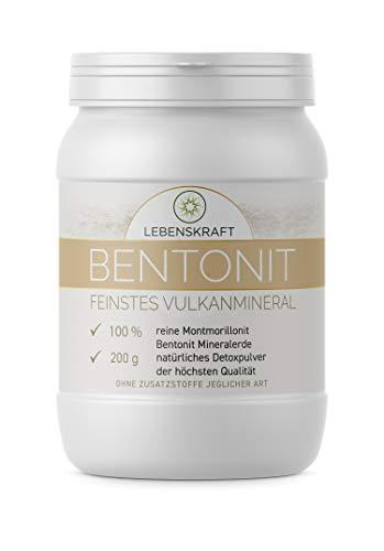 Lebenskraft Bentonit Mineralerde 200g Dose, bis zu 97% Montmorillonit Gehalt, 100% naturreines Vulkanmineral