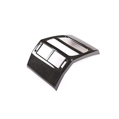 Stubble ABS Chrome Car Trasero Asiento Trasero Aire Acondicionado Outlet Funda de ventilación Marco de la Etiqueta engomada del Ajuste para el Land Rover Discovery Sport 2020 Accesorios