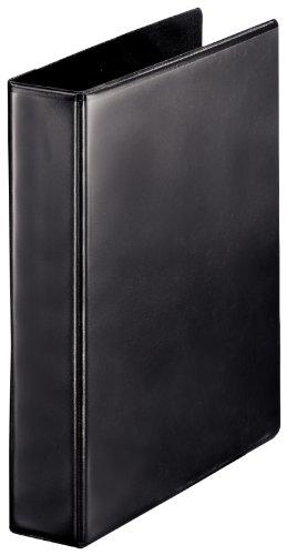 Esselte Group 49700 Essentials - Archivador para presentación (con anillas personalizable, A4, capacidad para 140 hojas, cartón recubierto de polipropileno, anillas 40 mm), color negro