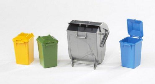 Unbekannt Bruder Zubehör: Mülltonnen-Set, 1 Set