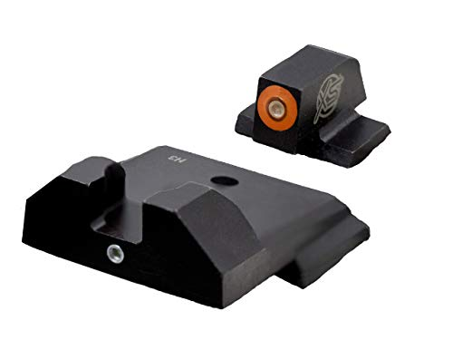 XS Sights F8 Night Sight for Pistols, Large Tritium Front Handgun Sight for Fast Acquisition, Wide U-Notch Rear Sight, High Visibility, Easy Alignment, Fits All Pistols (S&W M&P Shield)