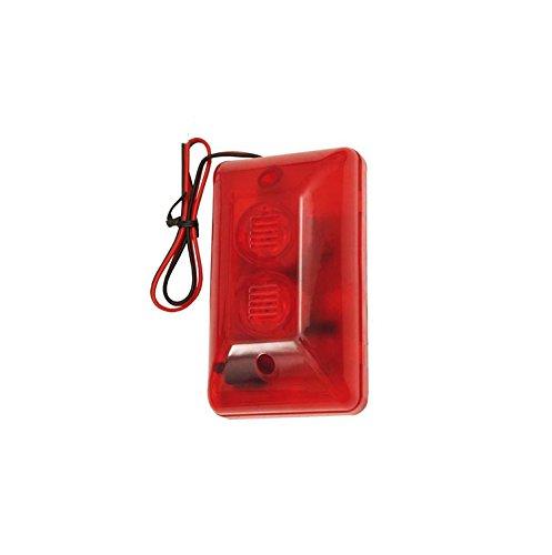 103dB Alarmsirene Alarm Flasch Sirene Signalgeber LED Blitzlicht 6-15V