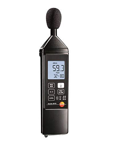 Testo 0563 8155 815 Schallpegel-Messgerät, inklusive Schraubendreher zur Kalibrierung, Windschutz und Batterien