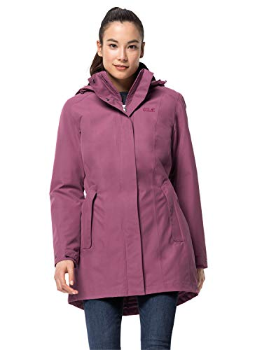 Jack Wolfskin Damen MADISON AVENUE COAT wasserdichter Wintermantel, violet quartz, S
