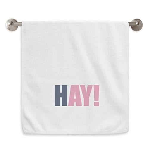 DIYthinker Hay Quote Zwart Moedigen Positieve Hello Circlet Wit Handdoeken Zachte Handdoek Wasdoek 13X29 Inch