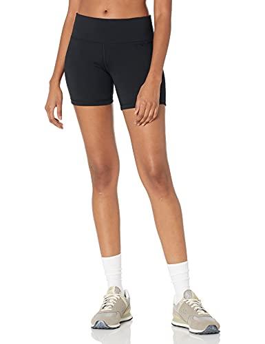Amazon Essentials Studio Sculpt Mid-Length Short Yoga-Shorts, Negro, US L (EU L - XL)