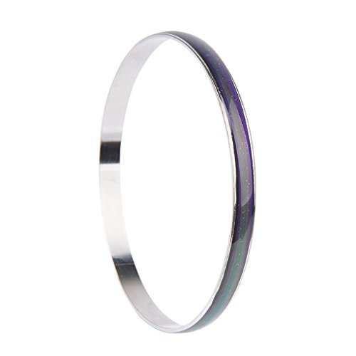 Unisex Color Changing Emotion Feeling Mood Bangle Bracelet Gift---Dia 2.5Inches