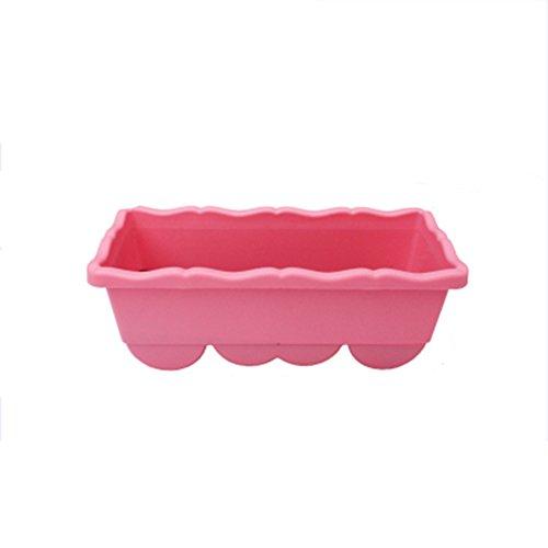 Pots de fleurs rectangulaire avec plastique Creative Pots de semences et Encore Plus de viande Pots balcon Légumes plantation Box Grand Pots de plantation, rose, Taille L