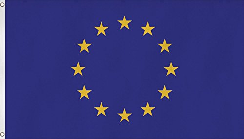 normani Fahne mit Messingösen 90 x 150, 150 x 250 oder 300 x 500 cm wählbar Farbe Europa Größe 90 x 150