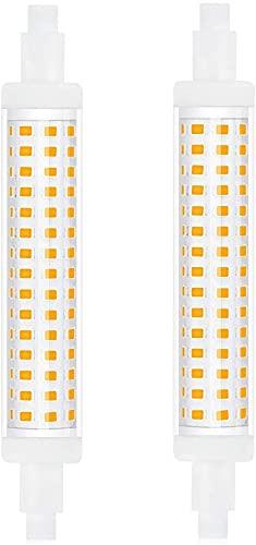 Bonlux Bombilla LED de 10 W R7s, 118 mm, no regulable, blanco neutro, 4000 K, reemplaza a una barra halógena de 90 W, 1300 lm, J118, tubo AC 220 – 240 V, 2 unidades