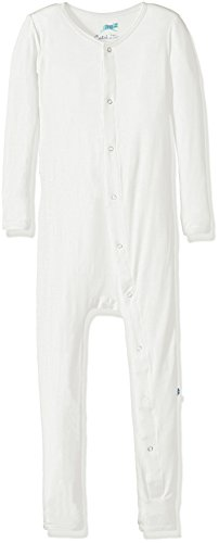 KicKee Pants Bamboo Basic Coverall with Snaps (Natural - 3T)
