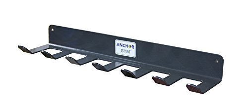 Anchor Gym R7 Seven Prong Storage Rack for Fitness Bands, Straps, Jump Ropes, Foam Rollers (Wood Screws Included)