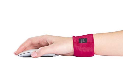 Uppo - Reposamuñecas para Ordenador portátil Mantiene la muñeca en un ángulo Saludable. Suaviza la rigidez y el Dolor ergonómico. Evitar túnel carpiano, tensión repetitiva, Color Rojo Rosa